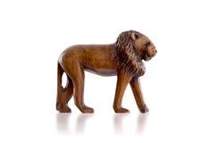 Wood toy lion isolated Stock Image