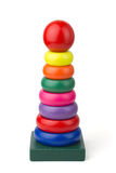 Wood toy pyramid Stock Photography