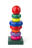Wood toy pyramid Royalty Free Stock Image