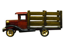 Wood toy truck Royalty Free Stock Photo