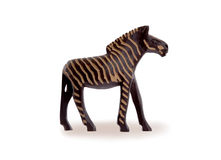 Wood toy zebra isolated Royalty Free Stock Images