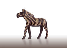 Wood toy zebra isolated Stock Photos