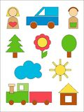 Wood toys Royalty Free Stock Images