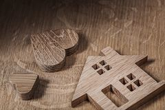 Free Wood Toys House And Heart Royalty Free Stock Images - 150645829