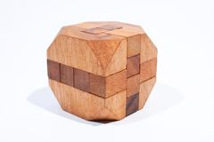Wood Toys octagon. Placed on a white background, then shoot Royalty Free Stock Image