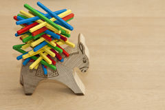 Wood toys to enhance kids skills Royalty Free Stock Photography