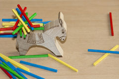 Wood toys to enhance kids skills Royalty Free Stock Photo
