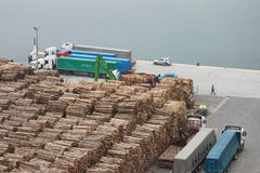 Wood transport Royaltyfri Fotografi