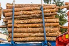 Wood transport Stock Image