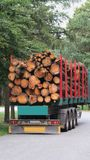 Wood transport Royalty Free Stock Image