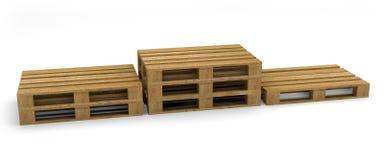 Wood transportbruk för palett Royaltyfri Bild