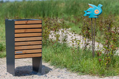 Wood trash bin in the park, save nature concept related Stock Photography