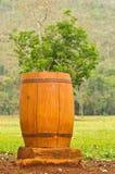Wood Trash Bin Stock Images