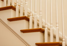 Wood Treads and Painted Pickets Royalty Free Stock Photography