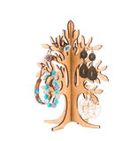 Wood tree with accesories. Stock Image