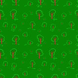 Wood trees seamless pattern Royalty Free Stock Images