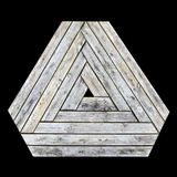 Wood Triangle Shape Royalty Free Stock Photo