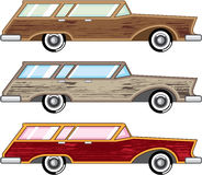 Wood trim station wagon vector Stock Image