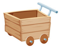 Wood trolley Royalty Free Stock Photos