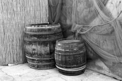 Wood trummor och det netto Royaltyfria Bilder