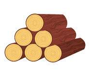 Wood trunk isolated icon design Stock Image