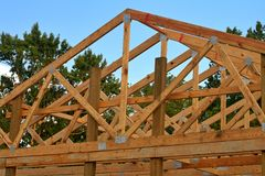 Wood Trusses Stock Images