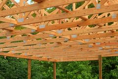 Wood Trusses royalty free stock photography