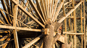 Wood turbine royalty free stock photography