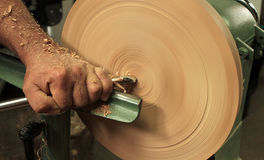Wood turning / carving Royalty Free Stock Photography