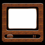 Wood tv Royalty Free Stock Photography