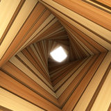 Wood twisted tunnel Royalty Free Stock Photo