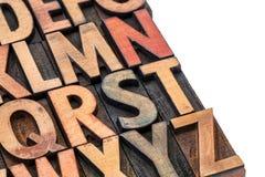 Wood typ abstrakt begrepp för boktryck Royaltyfri Fotografi