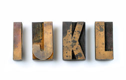 Wood Type. Vintage Wooden Letters Used For Letterpress Printing Royalty Free Stock Photos