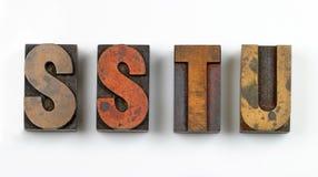 Wood Type Stock Photography