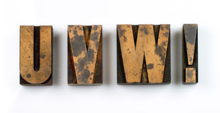 Wood Type. Vintage Wooden Letters Used For Letterpress Printing Stock Photos