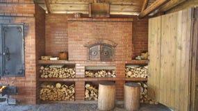 Wood ugn Royaltyfria Foton