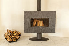 Wood ugn-spis royaltyfri fotografi
