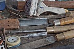 Wood utrustning Fotografering för Bildbyråer