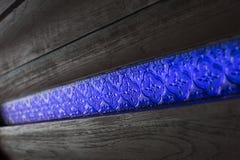 Wood vägg med stainglass Arkivfoton