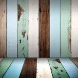 Wood vägg och golv för tappning Fotografering för Bildbyråer