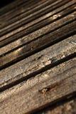 Wood väggslut för gammal ladugård upp Arkivfoton