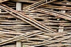 Wood väv Arkivbild