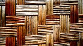 Wood vävbakgrund Bambuvävvägg Royaltyfria Foton