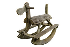 Wood vagga häst för leksak Royaltyfri Bild