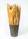 Wood vase Royalty Free Stock Photos