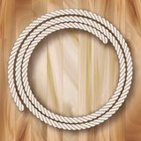 Wood Vector Frame Rope Design Stock Images