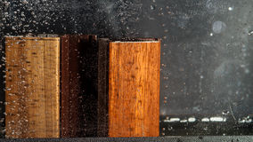 Wood veneer test by water Stock Images