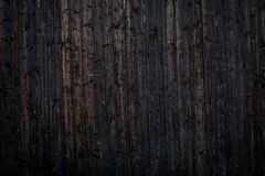 Wood vintage background of black painted plank.  stock photo