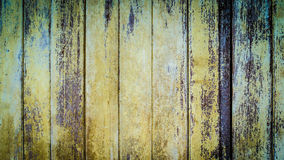Wood vintage background. Closed up of old wood background. Vintage wood background with blue color peeling paint Stock Photography