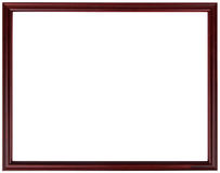 Wood vintage frame isolated on white. Wood frame simple design. Royalty Free Stock Photo